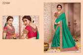 Gorgeous & Classy Green Colored Silk Saree