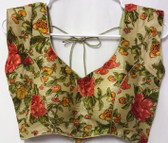 Ready-to-wear Padded Saree Blouse Choli Multicolor Floral Design