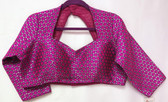 Ready-to-wear Padded Saree Blouse Choli Violet Color Long Sleeve  Design
