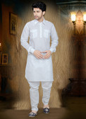 Stylish Off White Off White Cotton Cotton Kurta Pyajama D1021511971
