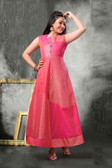 Stylish Trendy   Tafeta Silk  Banasrasi Jecard  Readymade Girl Gown D1022018393
