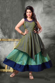 Stylish Trendy   Tafeta Silk  Banasrasi Jecard  Readymade Girl Gown D1022018394