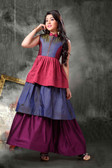 Stylish Trendy   Tafeta Silk  Banasrasi Jecard  Readymade Girl Gown D1022018395
