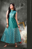Stylish Trendy   Tafeta Silk  Banasrasi Jecard  Readymade Girl Gown D1022018396