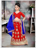 Stylish Trendy Red Red Banglori Silk Net Kid'S Wear Lehenga D1022014487