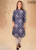 Trendy & Comfortable Blue Colored Cotton Fabric Kurti