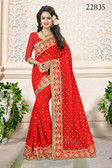 Gorgeous & Attractive Red Colored Georgette Saree
