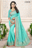 Gorgeous & Attractive Blue Colored Georgette Premium Saree