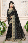 Gorgeous & Attractive Black Colored Georgette Saree