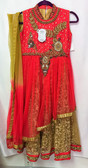 Stylish Premium  Crimson Red Color Net  Georgette  Lehenga 200617904