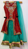 Stylish Premium Turquoise Color Net  Georgette Lehenga 200617937