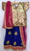 Stylish Premium Gold Blue Color Net Georgette Lehenga 200617942