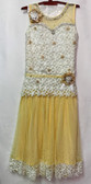 Trendy in Fashion Yellowish Color Net Georgette Gown 200617954