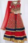 Stylish Premium Red Color Net Georgette  Lehenga 200617963