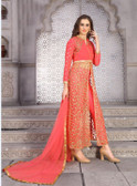 Elegant & Gorgeous Parrot Green Designer Semi Stiched Premium Net Salwar Suit