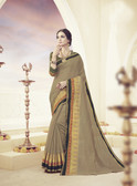 Elegant & Beautiful Light Coffee Colored Designer Cotton Silk Saree