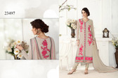 Gorgeous & Catchy Light Grey Colored Georgette Salwar Suit
