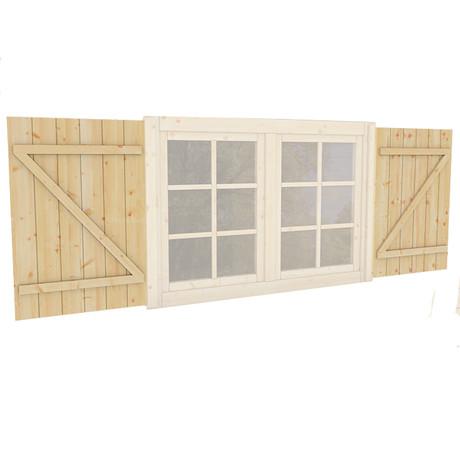 Double windows shutters
