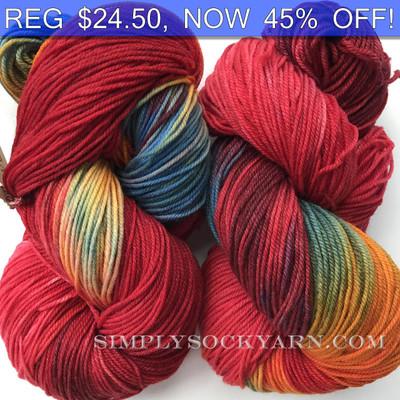 MWP 120g Sock Red Rainbow -