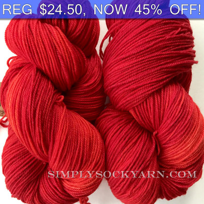 MWP 120g Sock Vermillion -