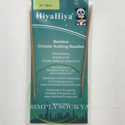 "Hiya 24"" Circ Bamboo US 1 -"