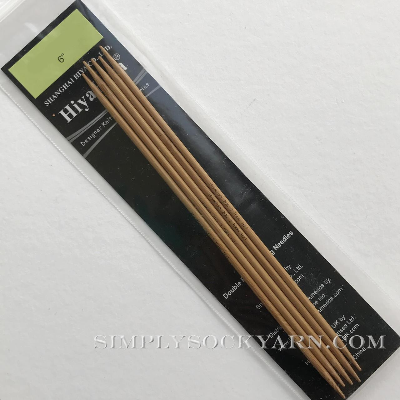 "Hiya 6"" DP Bamboo US 5 -"