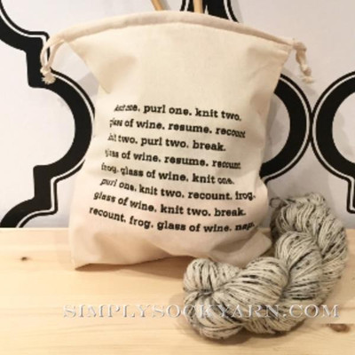 ST Project Bag Knitting Wine -