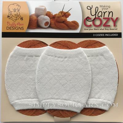 Yarn Cozy White Argyle -