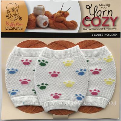 Yarn Cozy White Pawprints -