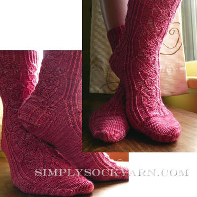 Knitspot Bougainvillea Sock