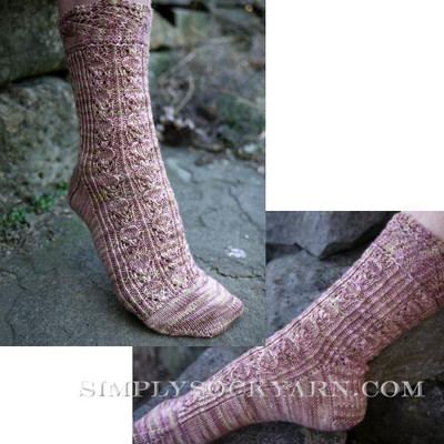 Knitspot Cherry Pie Sock