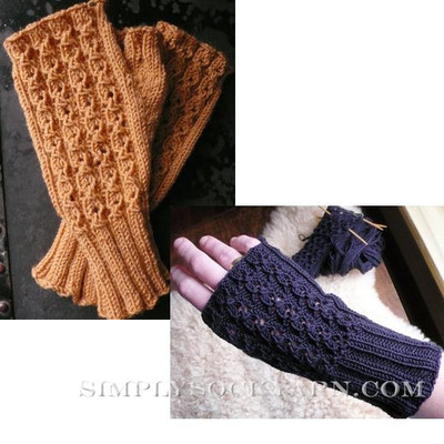 Knitspot Cloverleaf Lace Mitts