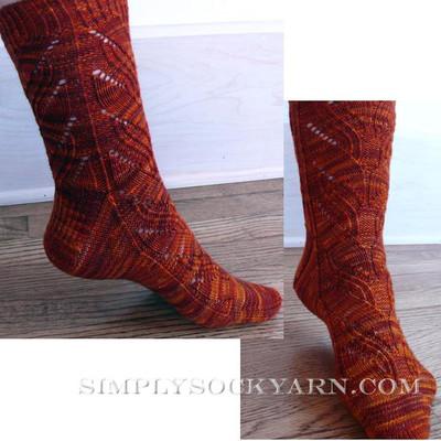 Knitspot Flaming Desire Sock
