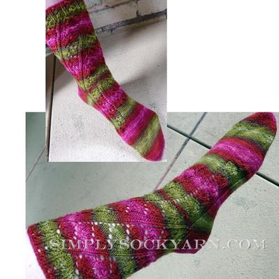 Knitspot Merlot Vine Sock