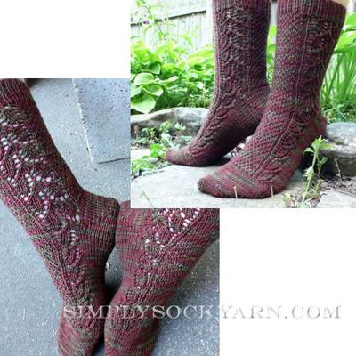 Knitspot Pine Cones Sock