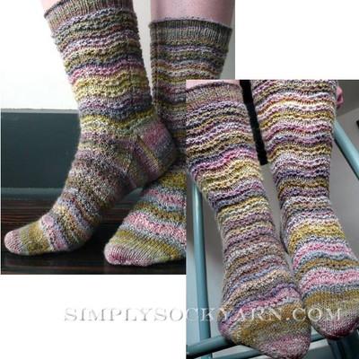 Knitspot Tidelines Sock