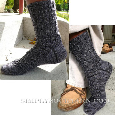 Knitspot Tottering Cables Sock