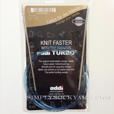 "Addi Turbo 60"" Circ US 6"