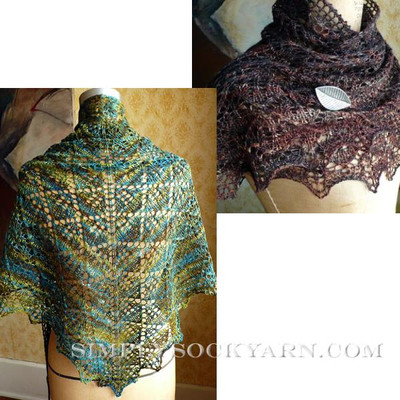 Knitspot Boxleaf Triangle Shawl