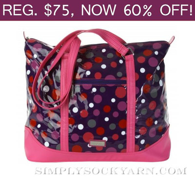 HK Tote Bouncing Ball Berry