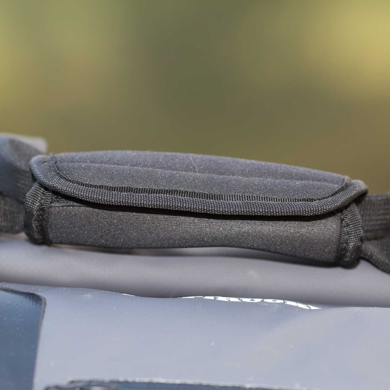 Close up of the soft grip bag handle