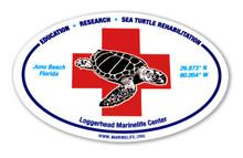 "4"" x 6"" oval LMC rescue sticker"