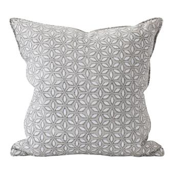 Hanami chalk linen cushion 50x50cm
