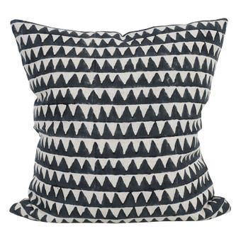 Pyramids indian teal linen cushion 50x50cm