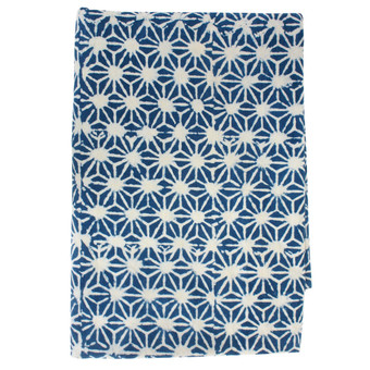 Stars indigo tablecloth