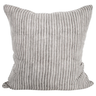 Ticking mud linen cushion 60x60cm