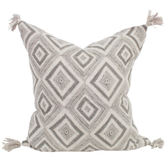 Swazi Mud linen cushion 55x55cm