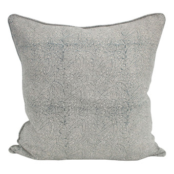 Meiro indian teal linen cushion 55x55cm