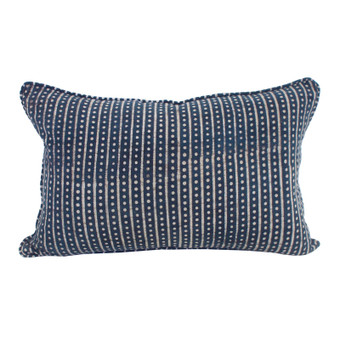 Hakuro indigo cotton cushion 35x55cm