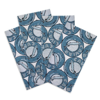 Caviar persian teal cotton napkins (set of 4)